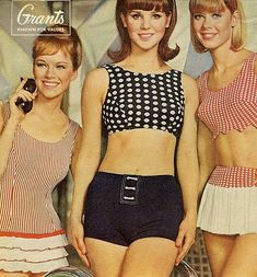 Seventeen Magazine 1961 I had a red bathingsuit like the one in the middle