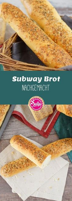 """Mit diesem Rezept backst du die berühmten weichen """"Subway"""" Brote, die es in… With this recipe, you're baking the famous soft """"Subway"""" breads that exist in the fast food chain. The long baguette breads are soft and perfect for garnishing. Sandwich Recipes, Pizza Recipes, Bread Recipes, Vegetarian Recipes, Subway Sandwich, Oregano Recipes, Ideas Sándwich, Baguette Bread, Sandwiches"""