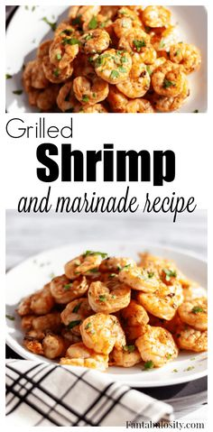Grilled Shrimp Marinade Recipe - easy for shrimp on skewers. Mustard, Worcestershire, vinegar marinade for an hr. Grill or pan cook. Grilled Shrimp Marinade, Easy Grilled Shrimp Recipes, Grilled Shrimp Skewers, Steak And Shrimp, Seafood Recipes, Shrimp Pasta, Raw Shrimp Recipe, Shrimp Marinade For Grilling, Shrimp On Grill