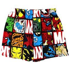 Marvel Men's Captain America Jam Short, Gray, S Mens Cotton Boxers, Cotton Boxer Shorts, Champion Clothing, Fashion Infographic, Sports Trousers, Cute Pants, Summer Boy, Summer Accessories, Graphic Tee Shirts
