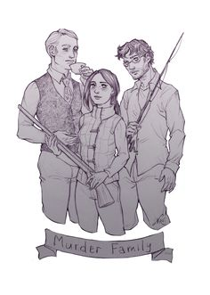 Hannibal Lecter, Abigail Hobbs and Will Graham from NBC Hannibal.  Hannigram urder Husbands ftw!
