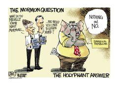 The Mormon question #mittromney #republicans