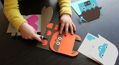 DIY paper animals via Wee Society