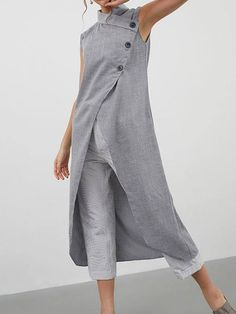 Tunic Shirt, Shirt Blouses, Tunic Tops, Shirt Dress, Plus Size Casual, Asymmetrical Tops, Color Khaki, Mode Style, Long Tops