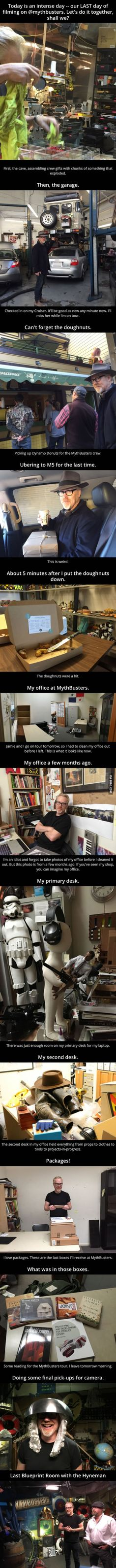 Adam Savage's Last Day at MythBusters  This made me cry. :((