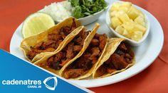 Tacos de pollo al pastor con salsa de piña y habanero / Receta de tacos
