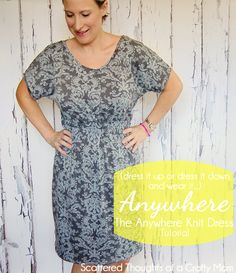 The Anywhere Knit Dress Tutorial for Women, by Scattered Thoughts of a Crafty Mom