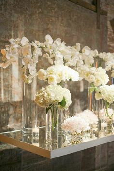 King Plow Wedding by Harwell Photography - Southern Weddings Magazine How to Have the Bride Modern Wedding Flowers, All White Wedding, Wedding Flower Arrangements, Mod Wedding, Flower Centerpieces, Wedding Centerpieces, Floral Wedding, Floral Arrangements, Dream Wedding
