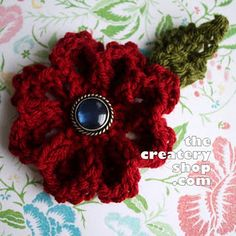 At last a knitted flower pattern that is one big peice instead of a bunch of little pieces put together