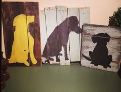 Dog Silhouette Pallet Sign by TeedumTeedee on Etsy I just love this aesthesic for the indoors, the outdoor fence, or our logo.what do yall think? Pallet Art, Pallet Signs, Pallet Fence, Pallet Ideas, Pet Shop, Dog Grooming Salons, Grooming Shop, Dog Salon, Dog Rooms