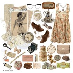 My grandma was also a young girl, created by frou-frou on Polyvore