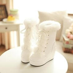 Cheap snow boots toddler boys, Buy Quality snow boot sale directly from China snow women boots Suppliers: 2015 Plus Real Rabbit Fur Boots Wedget lace-UP Tassel Leather Winter Ladies Snow Boots Freeshipping Wedge Snow Boots, Cheap Snow Boots, Snow Boots Women, Winter Wedding Boots, Wedding Shoes, Winter Boots, Fall Winter, Wedding Dresses, Shoe Boots