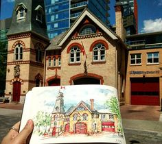 I went for a walk this morning and sketched a heritage building in Yorkville…