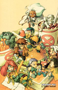 This is adorable and makes you love x-men, or should I say x-boys, even more!
