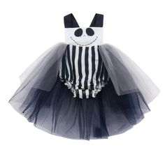 Did someone say Halloween? This black & white spooky faced tutu romper is the cutest outfit ever! Comes in sizes: months, months, months, months Shop for this cute romper for on the Mamahood Market Newborn Halloween, Baby Girl Halloween, Organic Baby Clothes, Cute Baby Clothes, Boys Christmas Outfits, Kids Outfits, Tank Top Bodysuit, Cute Rompers