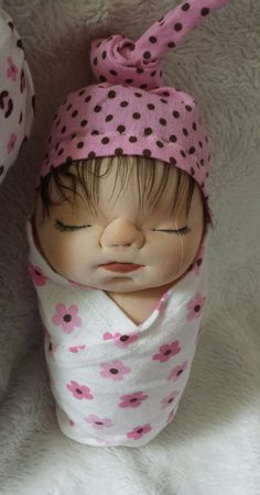 soft sculpture doll,  swaddle doll