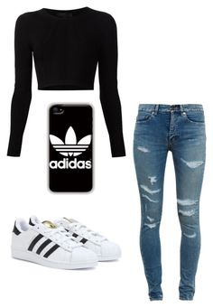 """Untitled #116"" by swaeleeleeswae ❤ liked on Polyvore featuring Cushnie Et Ochs, adidas and Yves Saint Laurent"