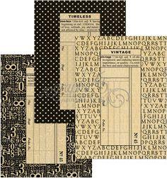 Graphic 45 Policy Envelopes - Regular Black