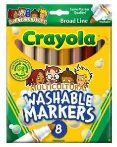 Click Image Above To Buy: Crayola Multicultural Washable Markers - Set Of 8 Multicultural Activities, Educational Activities, Preschool Activities, Little Muffins, Crafts For Kids, Arts And Crafts, Colors For Skin Tone, Bold Colors, Children