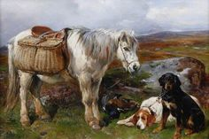 BBC - Your Paintings - Highland Pony and Dogs