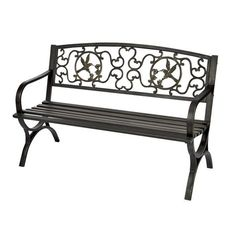 Great bench for a backyard or garden decoration! Entryway Furniture, Living Room Furniture, Outdoor Furniture, Outdoor Decor, Ottoman Bench, Hummingbirds, Lawn And Garden, Gadgets, Backyard