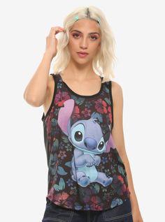 Disney Lilo & Stitch Tropical Chiffon Back Sublimation Girls Tank Top Disney Tank Tops, Disney Shirts, Boxing T Shirts, Disney Outfits, Disney Clothes, Tank Girl, Disney Merchandise, Lilo And Stitch, Size Model