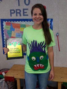 Go Away Big Green Monster Costume #prek
