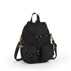 Kipling Firefly N Basic Plus Rucksack Black Leaf
