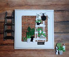 Postcard Album, Marianne Design Cards, Watercolor Plants, Mft Stamps, Pretty Cards, Plant Design, Card Maker, Flower Cards, Diy Paper