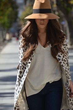 hat.  women's fashion and street style.