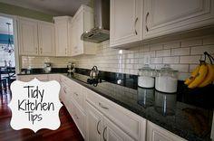 Tidy Kitchen Tips.  Great ideas!