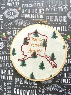 A personal favorite from my Etsy shop https://www.etsy.com/listing/464688864/state-pride-5-hand-embroidery-wall-decor