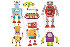 Check out Cute Robot Set by YenzArtHaut on Creative Market