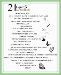 Tips for Healthy Lifestyle !! 