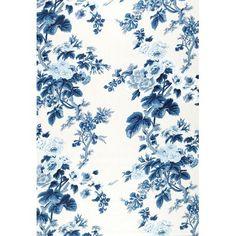 174452 Pyne Hollyhock Print Indigo by F Schumacher Fabric Trendy Wallpaper, Fabric Wallpaper, Of Wallpaper, Blue Flower Wallpaper, Blue And White Fabric, Blue Fabric, Cotton Fabric, Drapery Fabric, Fabric Decor