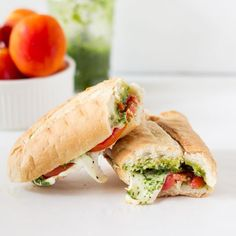 This Caprese Sandwich takes a twist by being toasted with melted mozzarella, and creamy parsley pesto. The sandwich is perfect for an everyday lunch or a picnic!   https://jessicainthekitchen.com