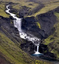 Ofærufoss, Eldgjá,Iceland    I have an obsession with waterfalls