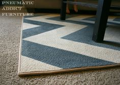 Pneumatic Addict Furniture: DIY Chevron Rug -- Something we might have to do if we can't find one that we both like.