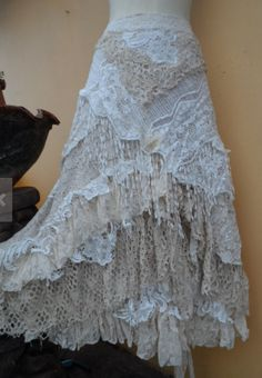 a work of art across plus ties wedding vintage bohemian gypsy lagenlook boho by wedding vintage bohemian gypsy lagenlook boho by wildskin Vintage Bohemian, Bohemian Gypsy, Gypsy Style, Vintage Lace, Bohemian Style, Boho Chic, Wedding Vintage, Shabby Chic, Handmade Wedding