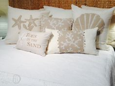 All of our coastal bedding is 100% cotton and we make everything right here in Southern California.