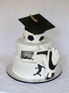 Happy Cakes Bakes: Soccer Graduation Cake