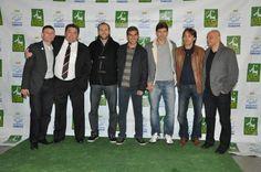 Mais uma imagem do lançamento do Torneio Gols Pela Vida com os craques Polako, Ricardinho e Tcheco, além dos amigos Rodrigo Barp, Cassiano Xavier e Jefferson Almeida.