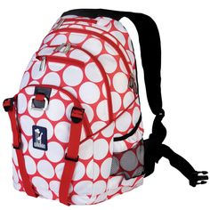 f03a8bcdbee5 Big Dot Red   White Serious Backpack ⋆ VESTA BABY