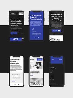 Hasnas Accounting - Website on Behance Web Design Mobile, App Ui Design, Site Design, Flat Design, Design Design, Interface Web, User Interface Design, Android App Design, Page Web