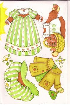 Strawberry Shortcake Card with Paper Doll and Clothes 2