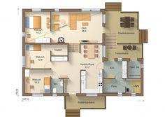 I129-10B_ak jukkatalo Future House, House Plans, Floor Plans, Exterior, Flooring, How To Plan, Case, Sims, Layouts
