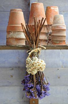 Pots & dried flowers