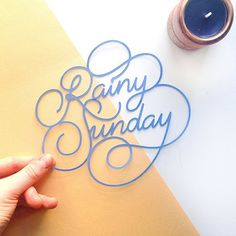 Paper Lettering by Charlotte Smith on Behance Types Of Lettering, Script Lettering, Lettering Styles, Calligraphy Letters, Typography Letters, Brush Lettering, Typography Logo, Graphic Design Typography, Lettering Design