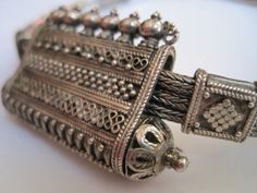 Vintage Indian Armlet  Silver Scroll Box  Hidden by Anteeka,- SOLD