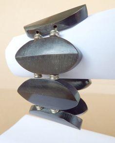 Chunky bracelet cuff, wooden statement bracelet, costume jewelry, vintage wooden bead bracelet, stocking stuffer, christmas present  Size: see photos.